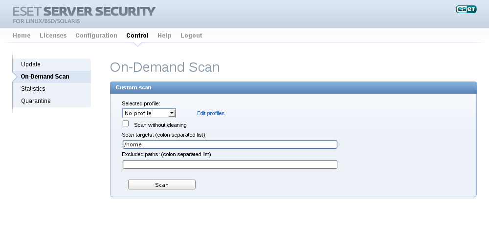 ESET Gateway Security for Linux / BSD / Solaris